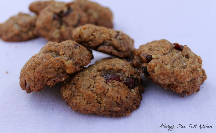 Oatmeal Cranberry Cookies | Allergy Free Test Kitchen | Pinterest