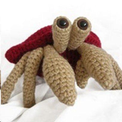 Crochet Amigurumi Crab : CROCHET HERMIT CRAB Only New Crochet Patterns