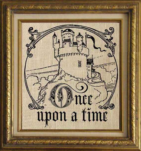 Once Upon A Time Calligraphy Once Upon a Time Words...