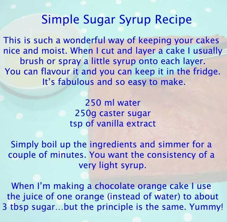 how to make sugar syrup for cakes