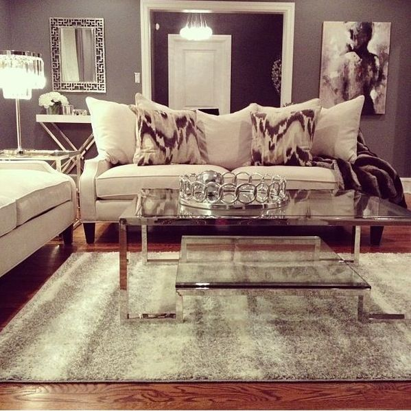 Beautiful grey living room home sweet home pinterest for Z gallerie living room