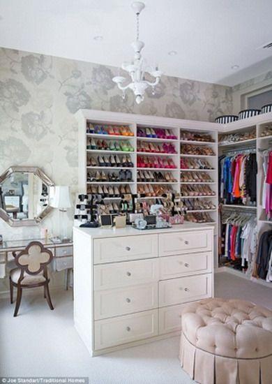 Stylish walk-in closet. Mine will look like that