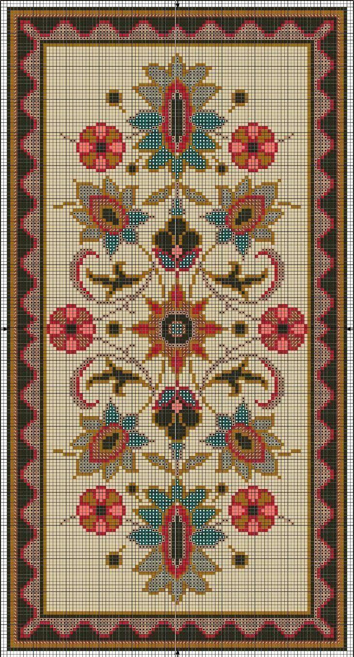 Схемы для вышивки коврика крестом 428