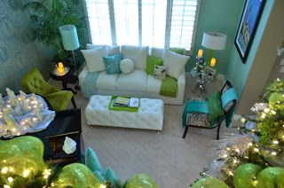 Turquoise Lime Green Living Room For The Home Pinterest