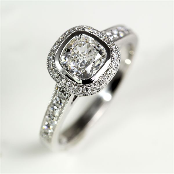Cushion Cut Diamond Cushion Cut Diamond Settings Bezel