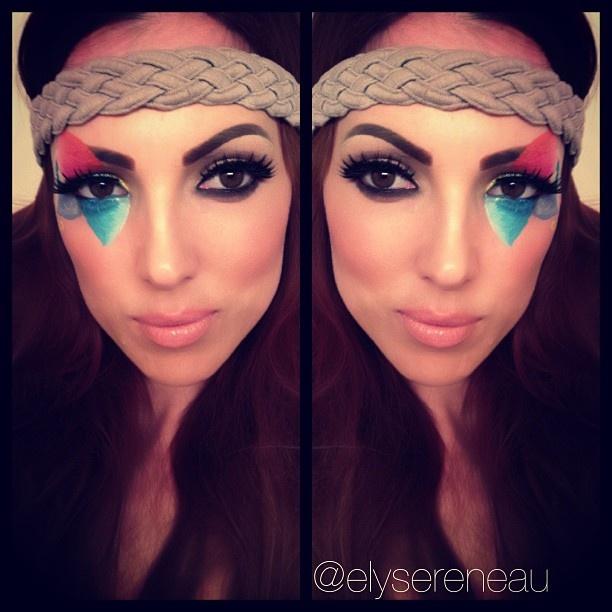 Coachella makeup : Oh the many faces!! : Pinterest