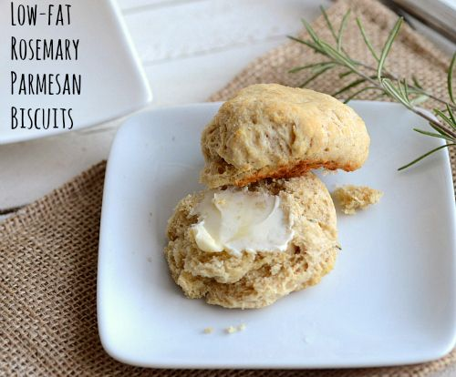 Low Fat Rosemary Parmesan Biscuits ... need we say more?