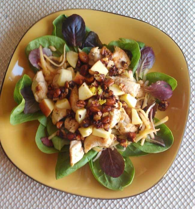 chicken salad for one chicken green apple and feta salad chicken green ...