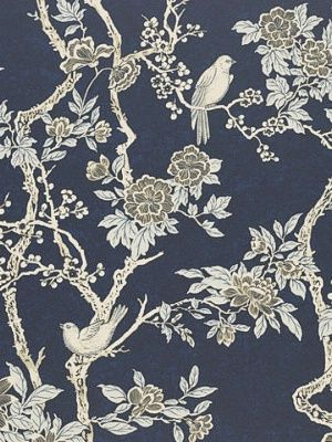 The Marlowe Floral in Prussian Blue, via Decorator's Best
