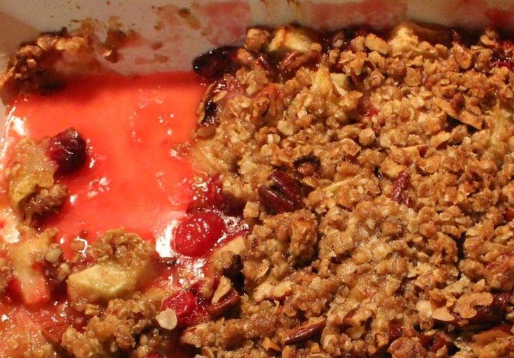 Cranberry apple crumble | BreakingtheBread~ThoughtfulSpot | Pinterest