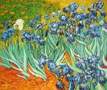 Cuadro de Los lirios de Van Gogh