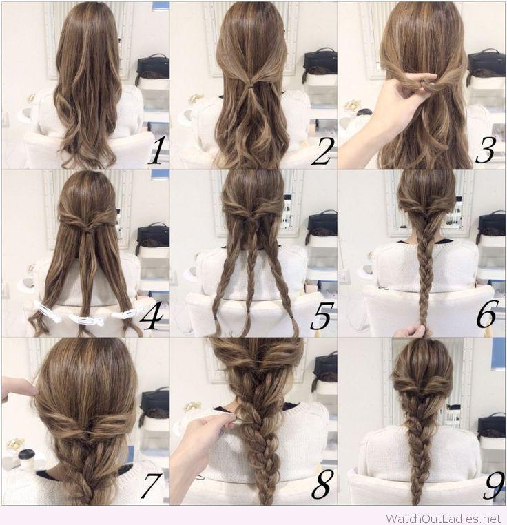 Легкие прически из длинных волос на каждый день своими руками