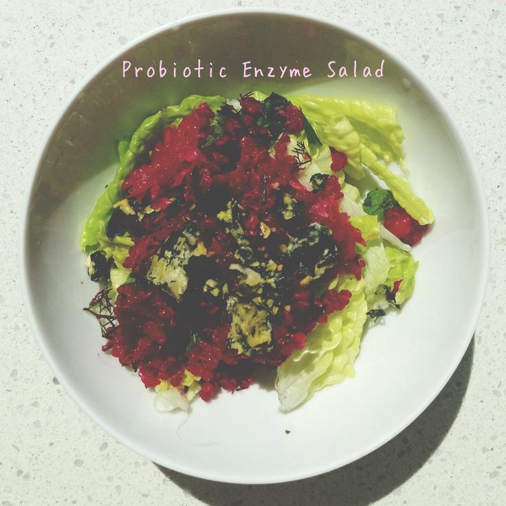 Probiotic and enzyme salad taste good