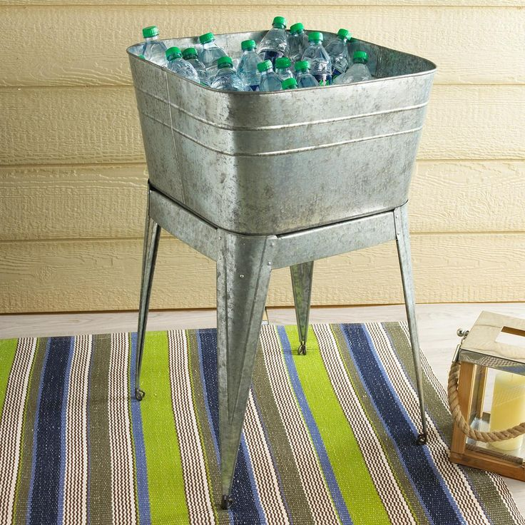 ... and solda cold in a stylish Galvanized Metal wash tub with stand