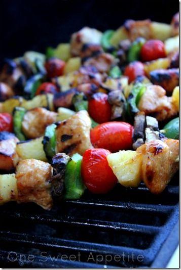 Hawaiian chicken kabobs | Recipes! | Pinterest