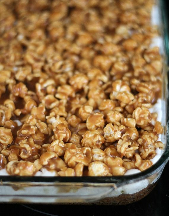 Chocolate Chip and Peanut Butter Popcorn Bars | Recipe