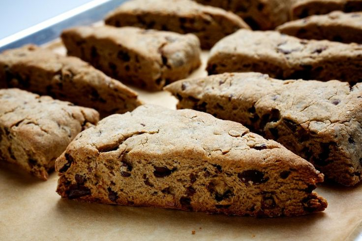 Chocolate Chip-Mocha Scones With Cacao Nibs