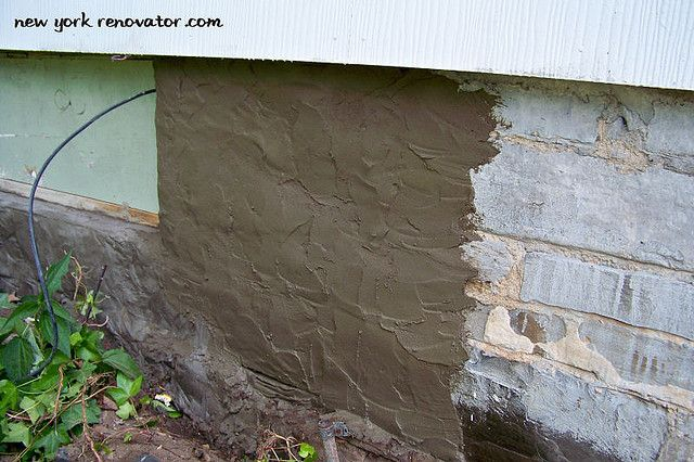 Parging A Foundation Wall Outdoors Pinterest