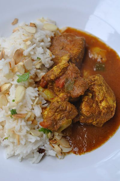chicken-curry with coconut-rice | What's for Dinner Mom? | Pinterest