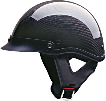 HCI 100 DOT Shorty Carbon Fiber Motorcycle Helmet