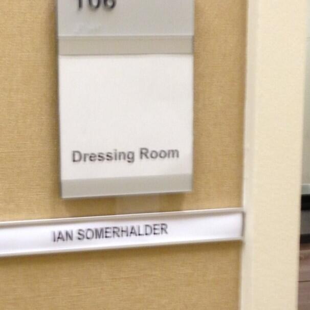 Dressing room Ian Somerhalder