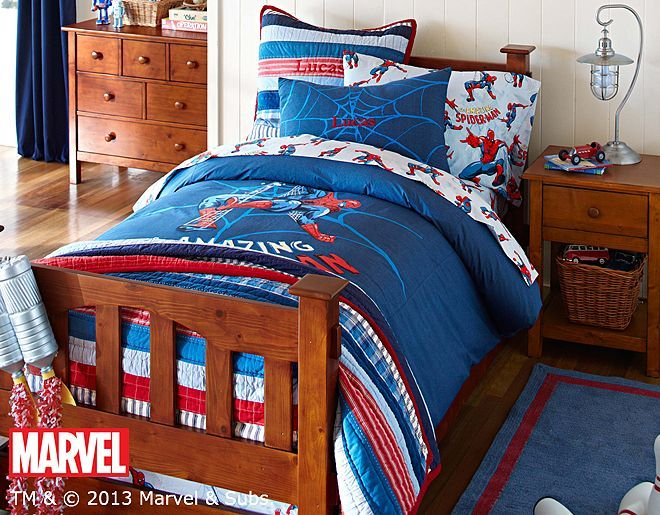 Spider Mans Bedroom : love the Pottery Barn Kids Spider-Man™ Bedroom on potterybarnkids ...