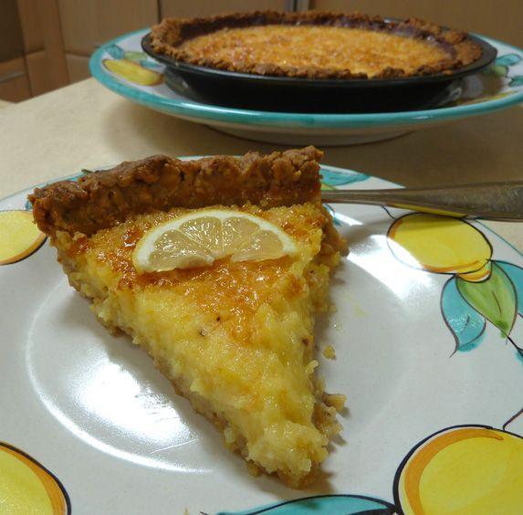 Lemon tart with hazelnut crust | Looks good and tastes good | Pintere ...