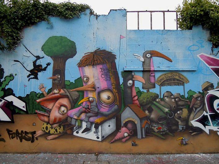 Pin Graffiti Con Numeros Sobre Fondo Naranja 275119jpg On Pinterest