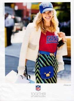 Karolina Kurkova NFL Shop Advertisements 2013 UPDATE | Fashion