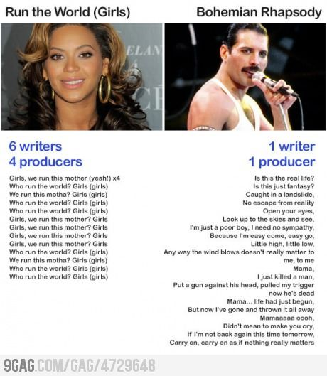 I like Beyonce, but modern music sucks.