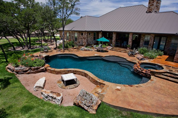 Oklahoma flagstone pool for the home pinterest for Pool design okc