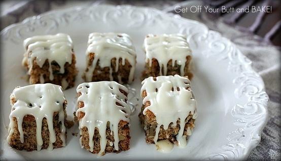 VANILLA GLAZED RAISIN SQUARES | Foodie Favs | Pinterest