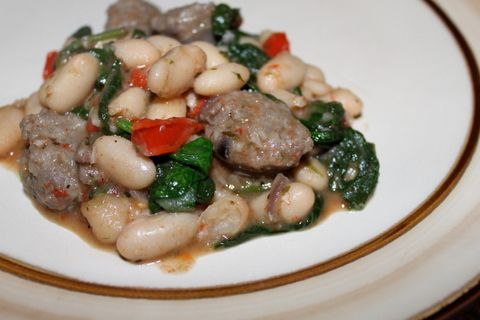 Italian Sausage and Cannellini Beans from a favorite cooking blog- on ...