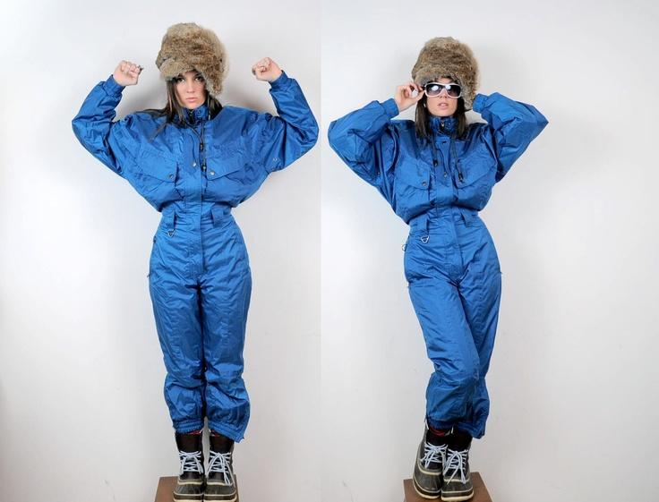 Full Snow Suit Coveralls Vintage Blue, via Etsy.