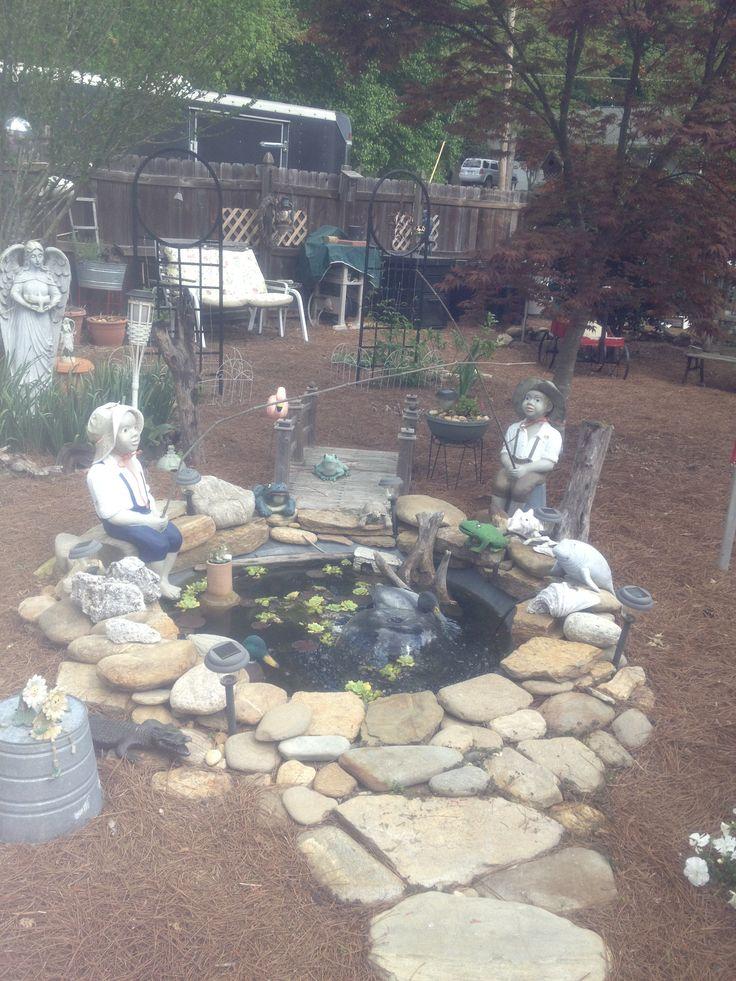 Pond made from garden tub garden ideas pinterest for Garden pond tub