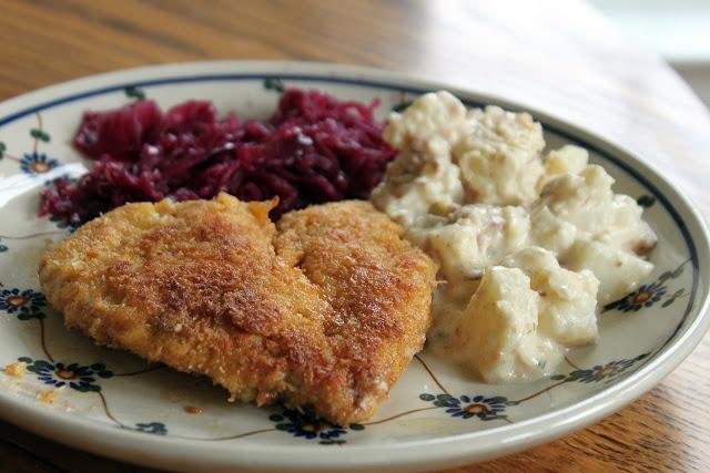 ... is over! Gluten-free Chicken Schnitzel and German Potato Salad