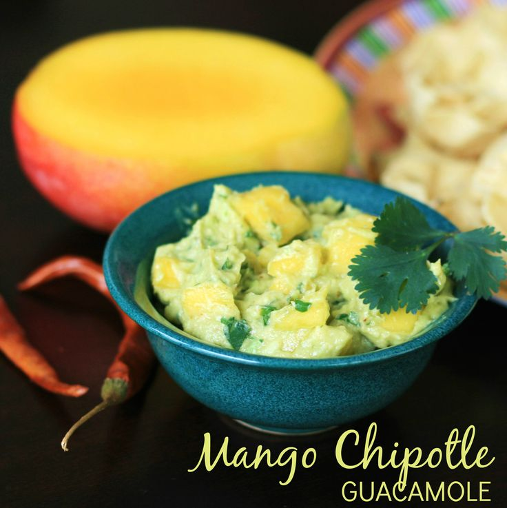 Mango Chipotle Guacamole - A smoky twist on traditional guacamole ...
