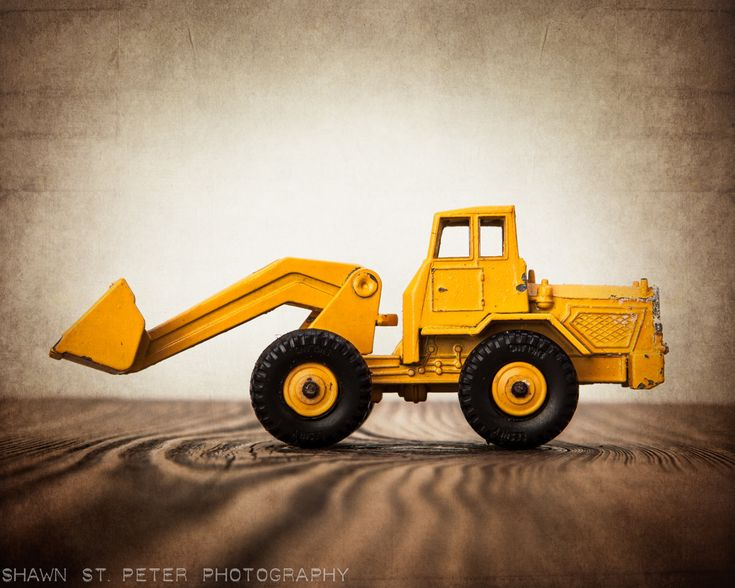 Vintage toy front end loader 8x10 photographic print boys for Chambre 8x10