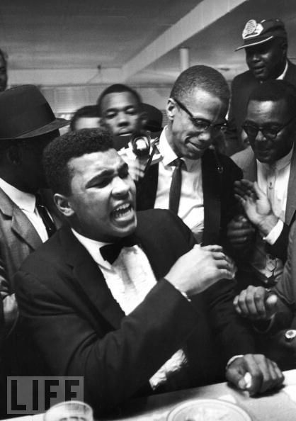 Malcolm x and muhammad ali and martin luther king