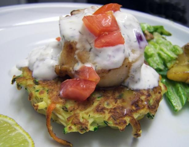 Seared Scallops With Zucchini and Carrot Cakes. veganizing the veggie ...