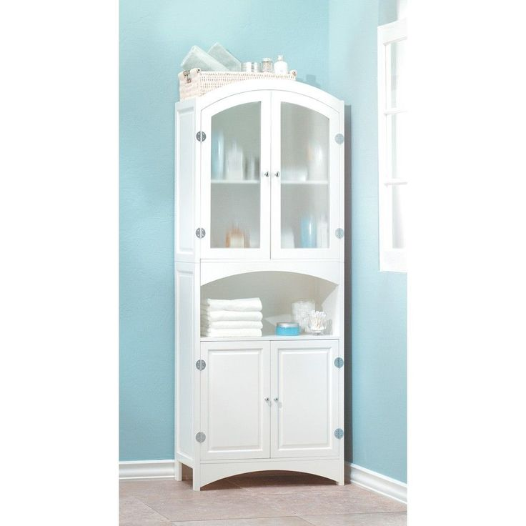 bath linen cabinet bathroom storage closet 63 tall new 35014