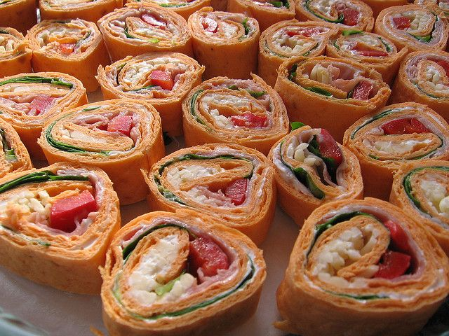 Tortilla Roll-ups by mubeimmik (cream-cheese, ham, roasted red pepper ...