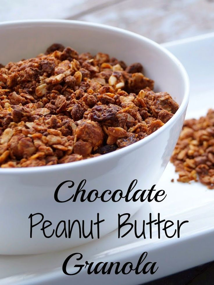 Old House to New Home : Homemade Chocolate Peanut Butter Granola