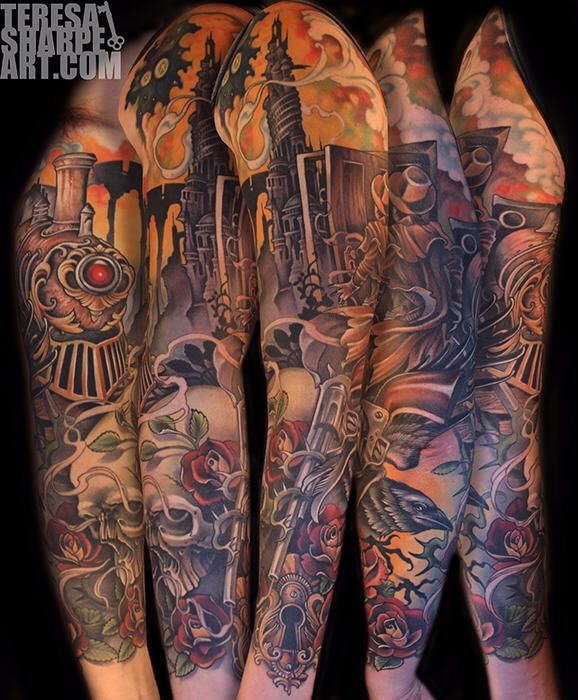dark tower tattoo sleeve stephen king pinterest. Black Bedroom Furniture Sets. Home Design Ideas