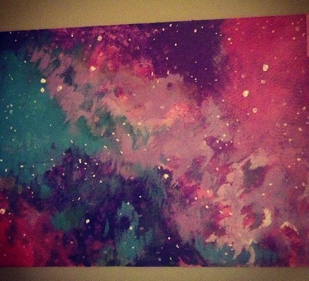 Galaxy painting⭐ | DIY | Pinterest
