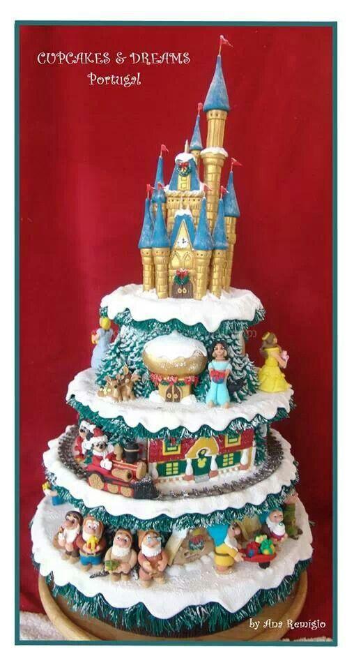 Disney Christmas Cake Let them eat CAKE Pinterest