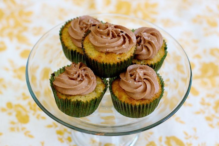 Banana and Zucchini Cupcakes with Nutella Buttercream Icing