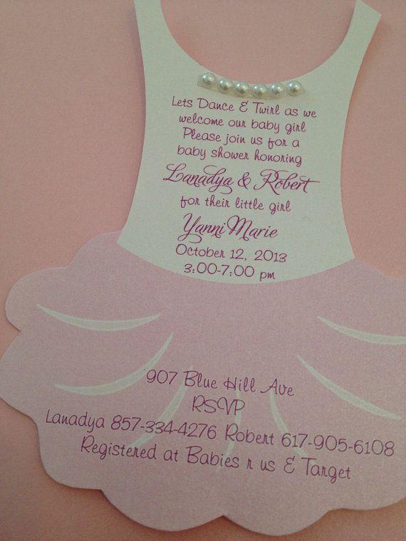 tutu baby shower invitation flat ballerina baby shower invitation