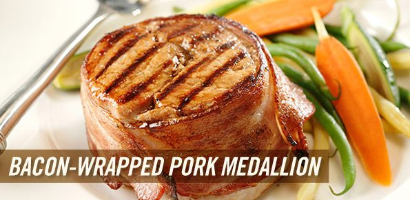 Bacon-Wrapped Pork Medallion | Recipes | Pinterest