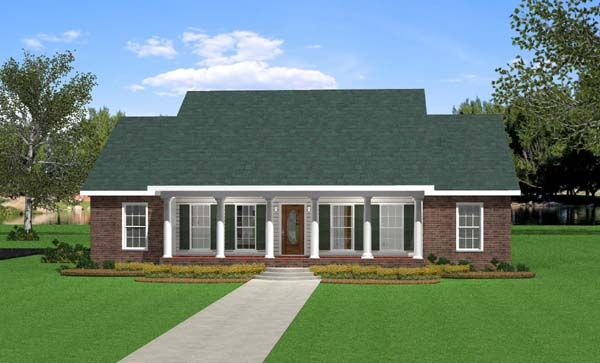 Southern Traditional House Plan 64533